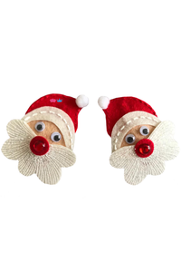 Jolly santa theme hair clip