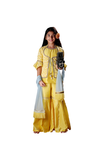 Belle yellow sharara set