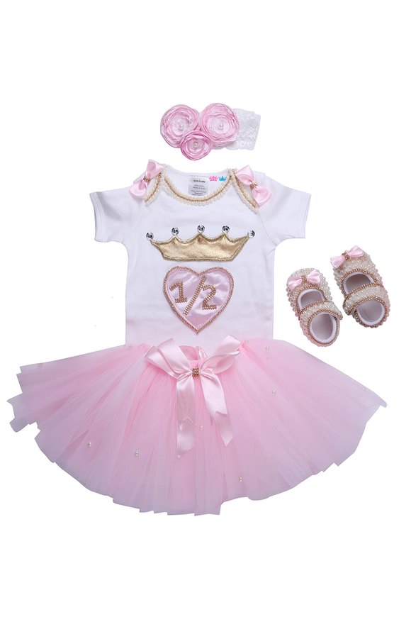 Pink Half Birthday Tutu Outfit