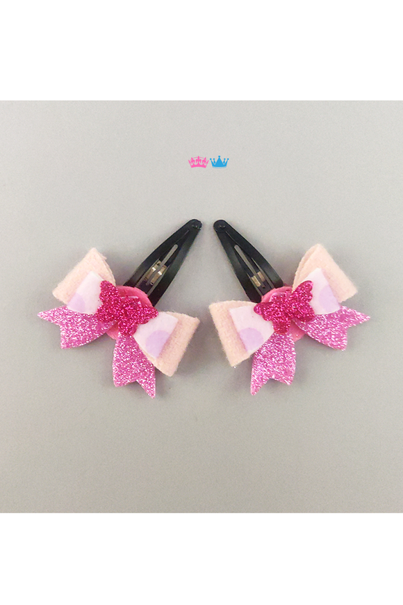 Trendy bows theme hair clip