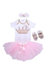 Pink Crown Tutu Outfit