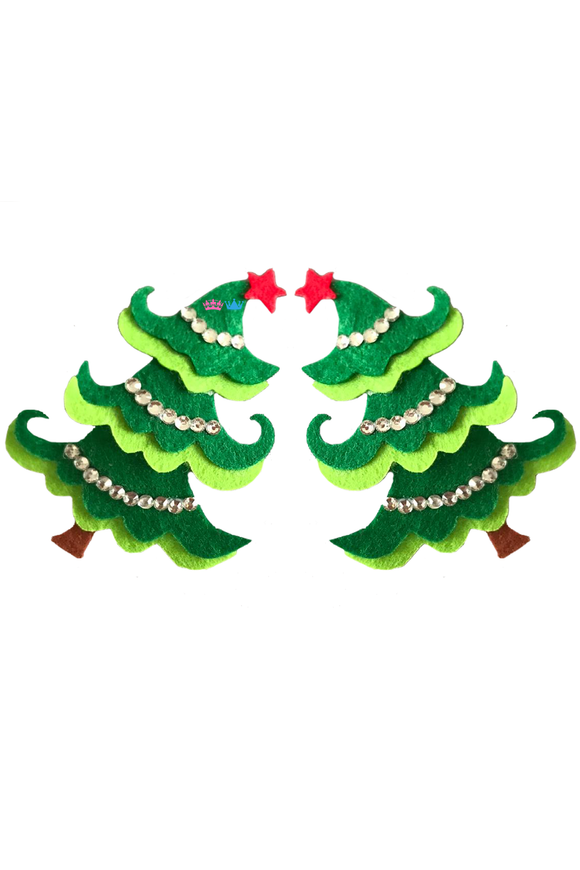 Bless full Christmas tree theme hair clip
