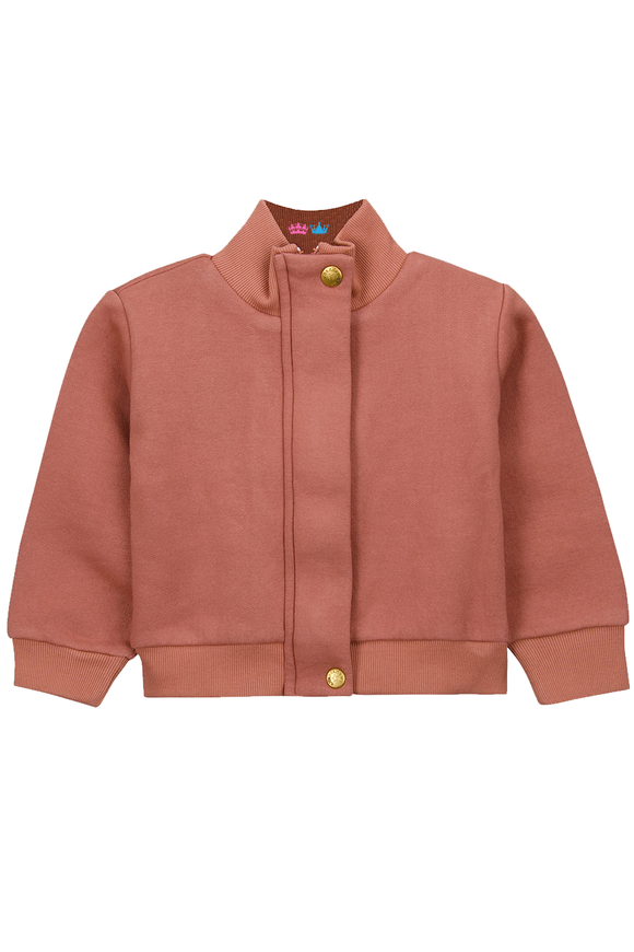 Jenice dusty pink jacket for winters