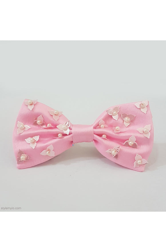 Pink beaded bow clip! designer Hair Accessories, designer Hair Clips, designer Hair Bands, Hair Accessories for girls