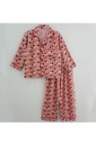 Peach pug print nightsuit