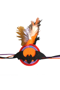Halloween  Feathery Bat Theme Wrist Band