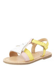 Pony yellow sandals! Footwear for girls, Flip flop for girls, designer sandals for girls, belly shoes for girls, designer kolhapuri flats