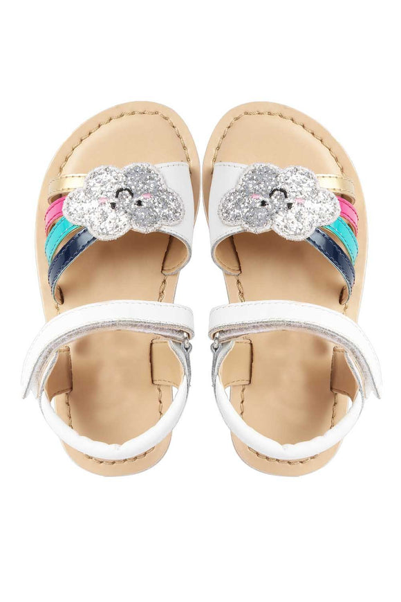 Cloud white sandals! Footwear for girls, Flip flop for girls, designer sandals for girls, belly shoes for girls, designer kolhapuri flats