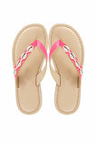 Seashell pink sandals! Footwear for girls, Flip flop for girls, designer sandals for girls, belly shoes for girls, designer kolhapuri flats