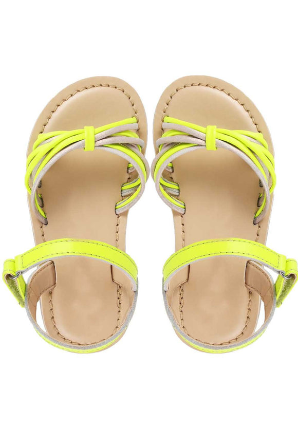 Dory yellow sandals! Footwear for girls, Flip flop for girls, designer sandals for girls, belly shoes for girls, designer kolhapuri flats