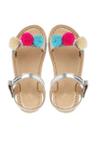 Lava silver sandals! Footwear for girls, Flip flop for girls, designer sandals for girls, belly shoes for girls, designer kolhapuri flats