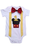 Mickey First Birthday Bodysuit