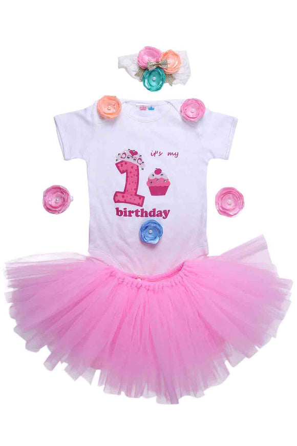 Pink Unicorn First Birthday Tutu Outfit