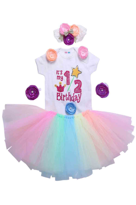 Multi Unicorn Half Birthday Tutu Outfit