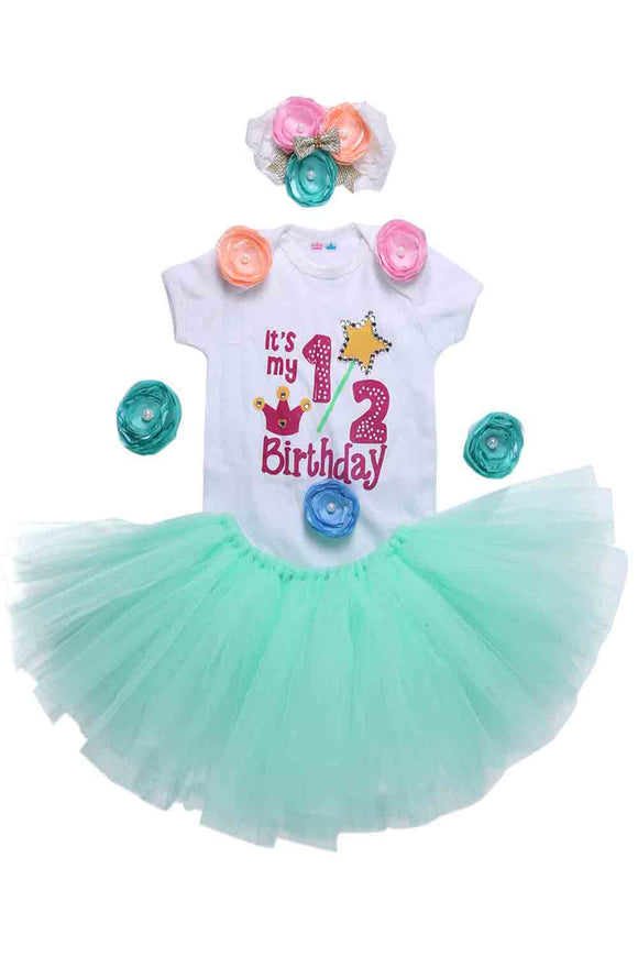 Mint Green Unicorn Half Birthday Tutu Outfit