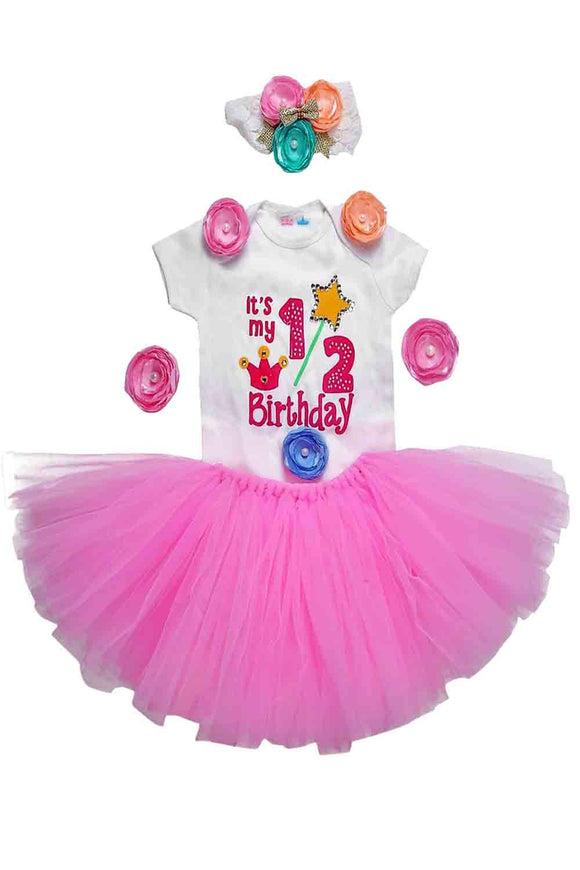 Pink Unicorn Half Birthday Tutu Outfit