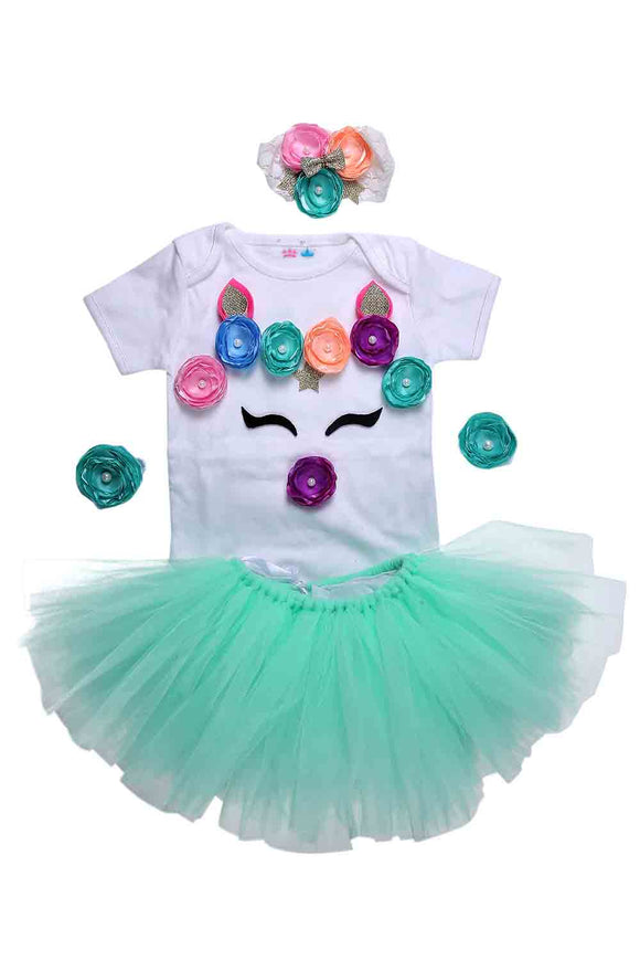 Mint Green Unicorn Tutu Outfit