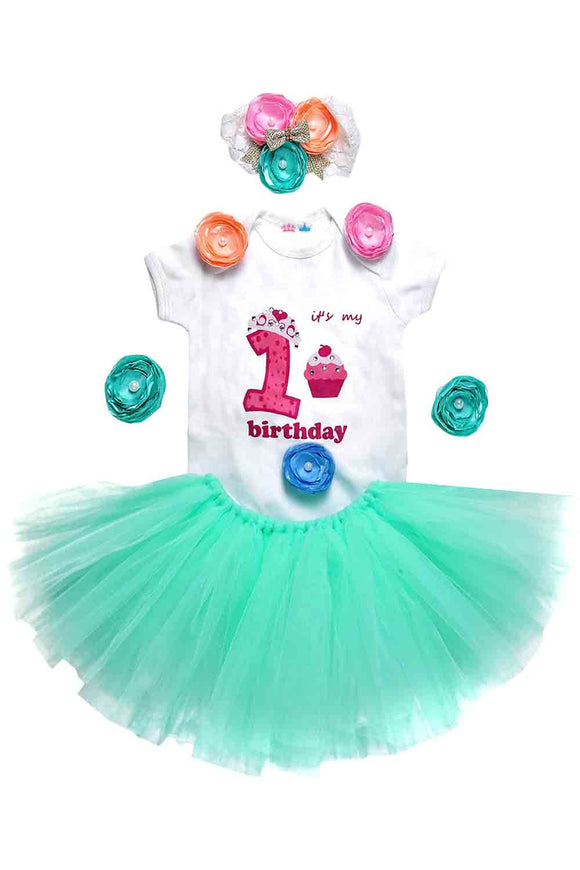 Mint Green Unicorn First Birthday Tutu Outfit