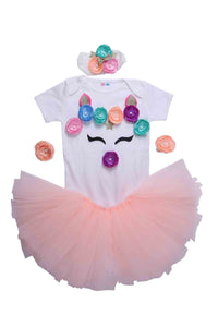 Peach Unicorn Tutu Outfit