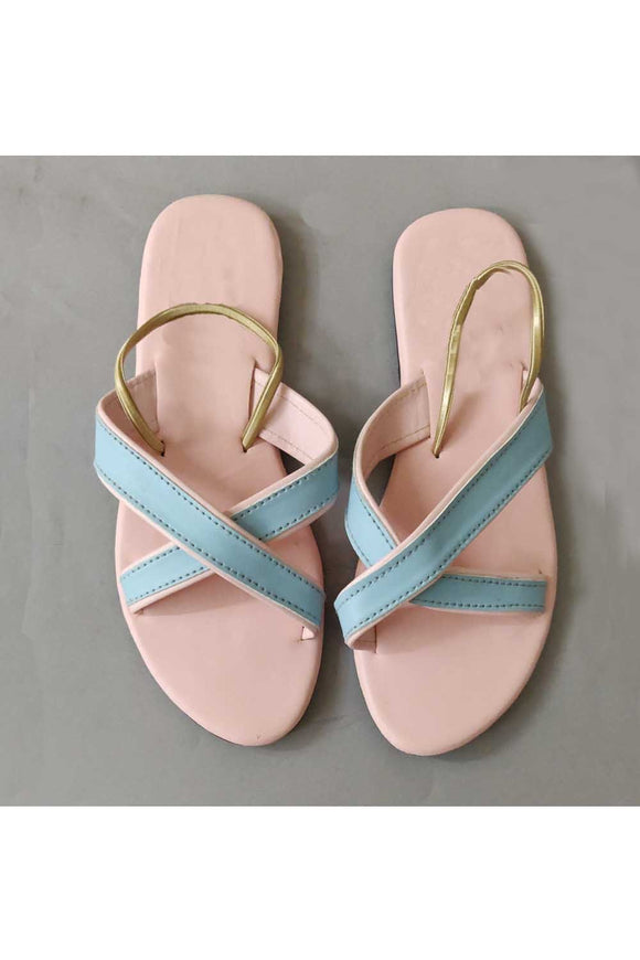 Pink blue criss cross! Footwear for girls, Flip flop for girls, designer sandals for girls, belly shoes for girls, designer kolhapuri flats