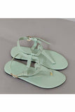 Mint green sandal! Footwear for girls, Flip flop for girls, designer sandals for girls, belly shoes for girls, designer kolhapuri flats