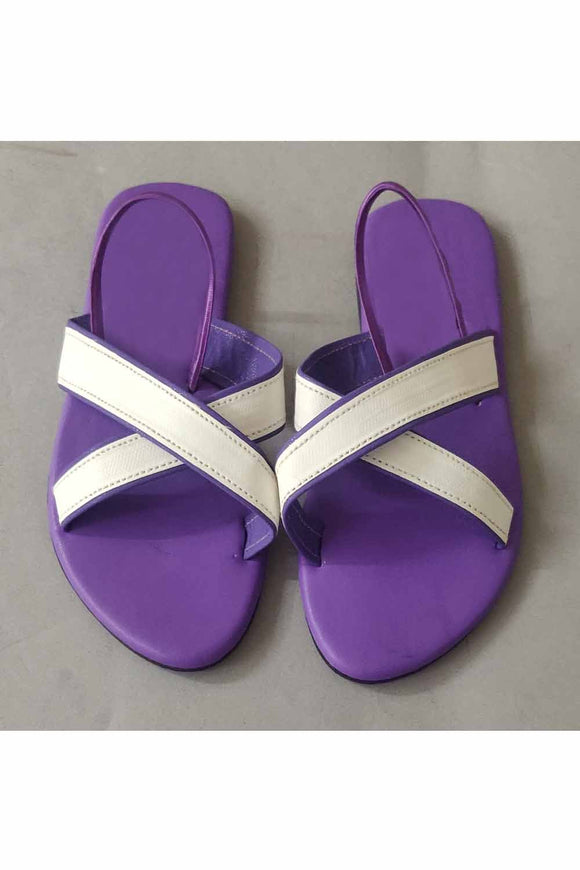 White cross belt flats! Footwear for girls, Flip flop for girls, designer sandals for girls, belly shoes for girls, designer kolhapuri flats