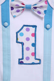 Polka Dots First Birthday Bodysuit