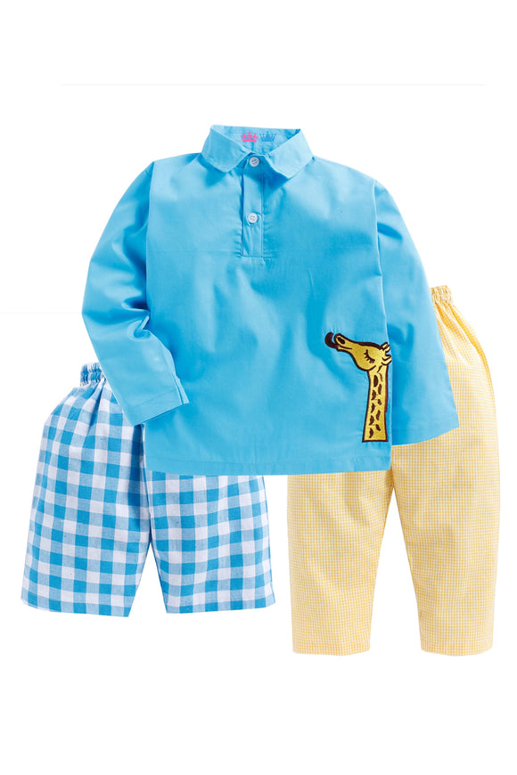 Blue Giraffe Sleepwear
