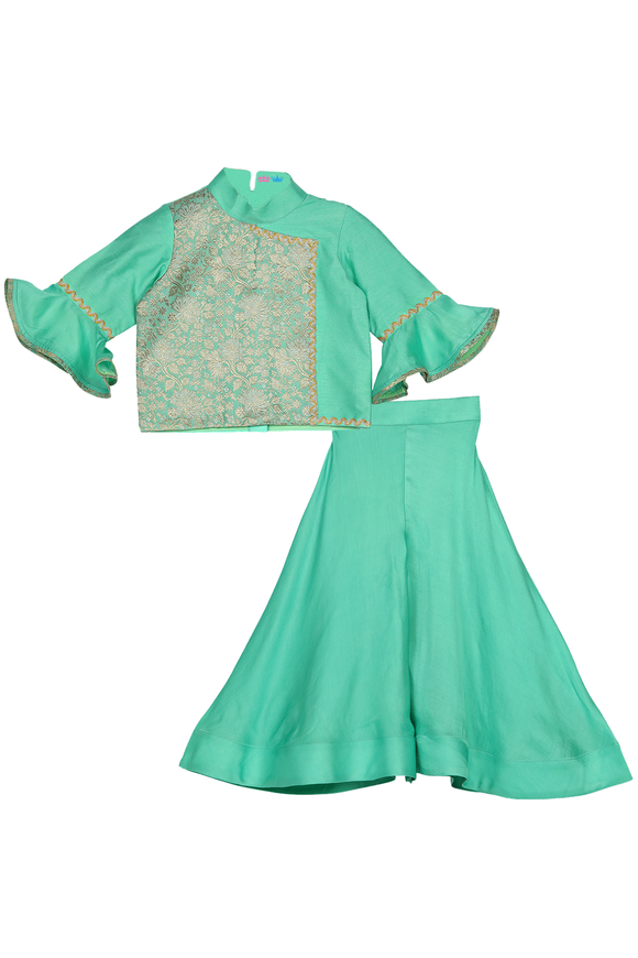 Ariel green sharara set