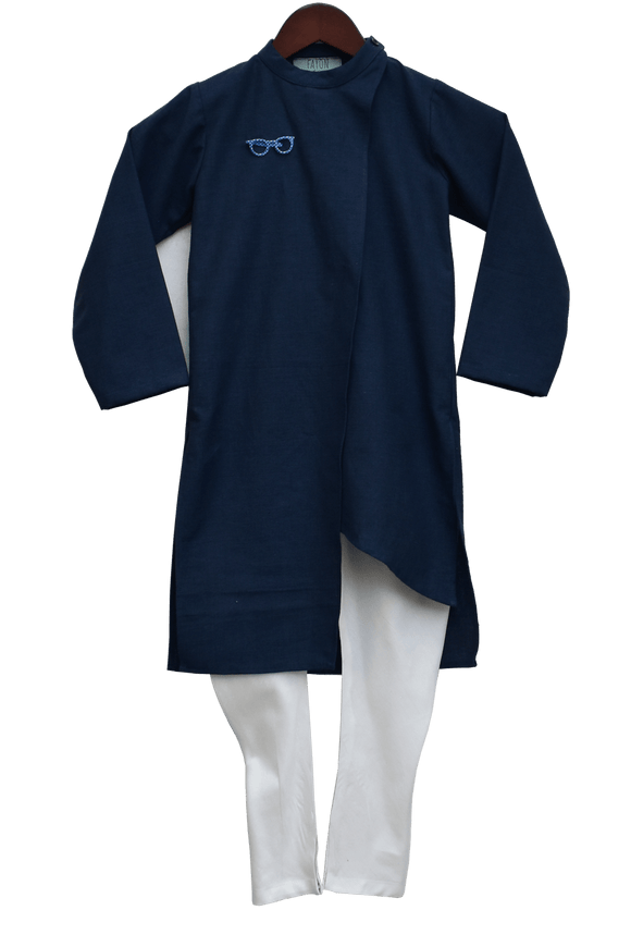 Dark Blue Kurta with churidar