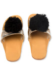 Desi Silver & Black Slipper