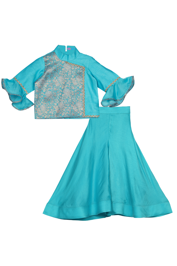 Jasmine blue sharara set