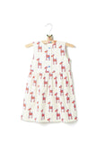 Hand Printed Summer Frock in Soft Giraffe Print