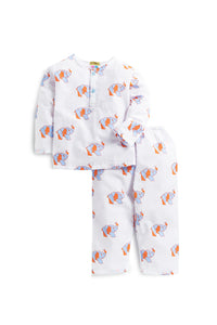 Hand Printed Nightdress in Adorable Elephant Print