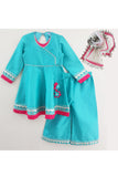Turquoise blue kurti and palazzo with dupatta! Designer Ethnic Wear For Girls, Designer Ethnic Wear For Baby Girl, Latest Ethnic Wear For Girl, Designer Lehenga Wear for Girls, Designer Indian Wear for Girls, Designer Salwar Suit for Baby Girls, Ethnic Wear for Baby Girl, Designer Indo Western Wear for Girls
