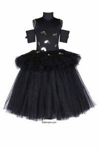 Black Angel Wings Tutu Gown