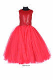 Shimmering Red Tutu Gown