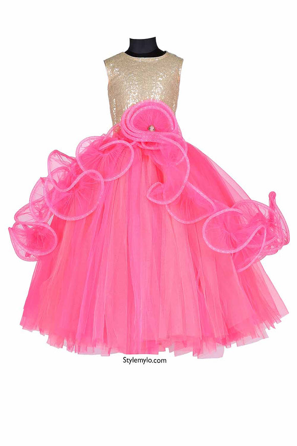Lady In Pink Tutu Gown