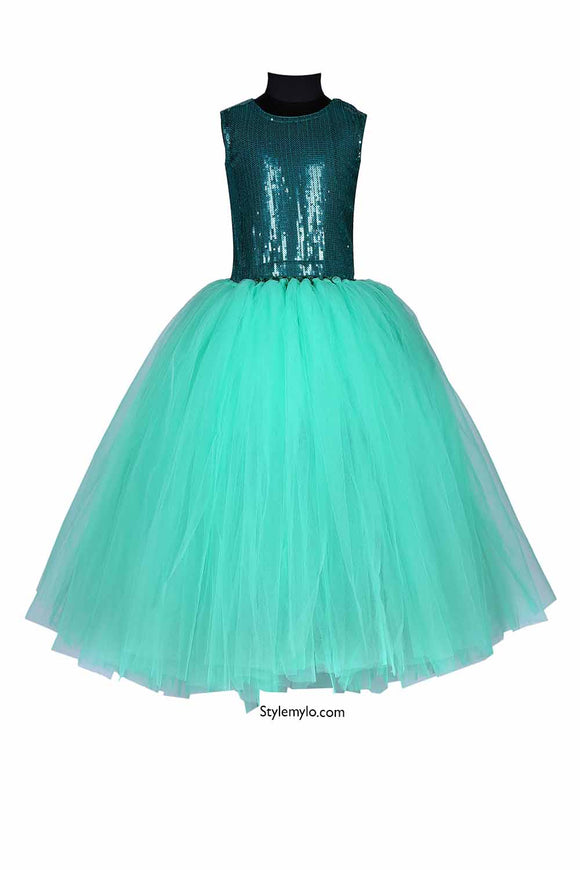 Shimmering Green Tutu Gown