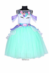 Mint Green Unicorn Tutu Gown