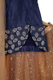 Star lehenga with embroidered top and attached dupatta