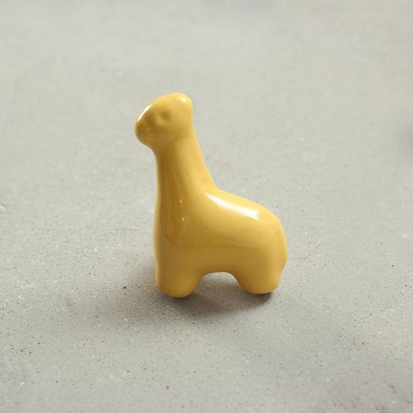 Yellow Giffy Giraffe Knob