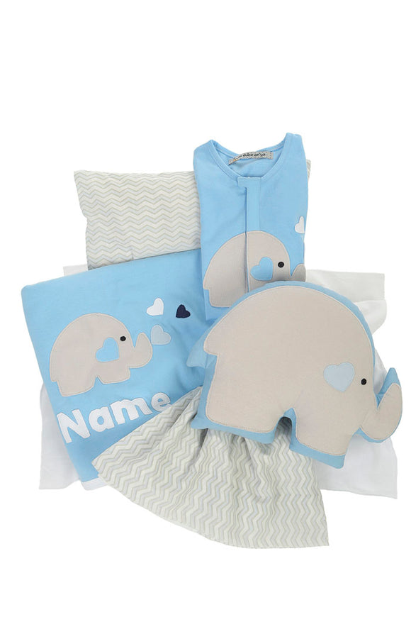 Organic Sky Blue Bedding Set