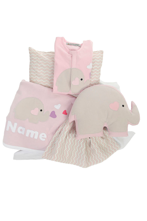 Organic Blush Pink Bedding Set