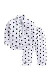 White with Black Polka Sleepwear