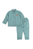 Green Checked Classic Camel Nightwear