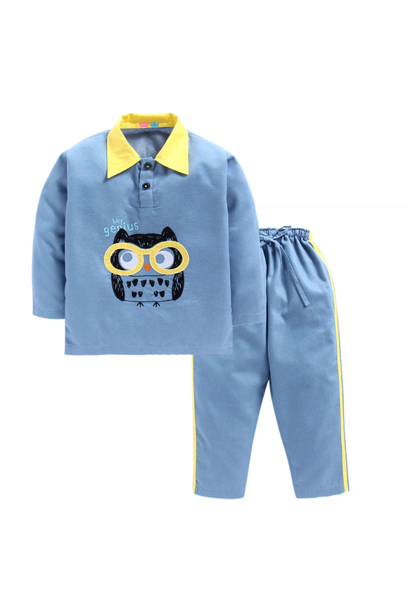 Blue Owl Printed Nightwear