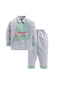 Green Check Crocodile Nightwear