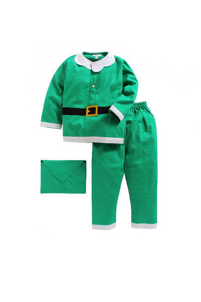 Christmas theme green sleepwear! sleepwear for boys, kids sleepwear, designer kids sleepwear, cute sleepwear for boys