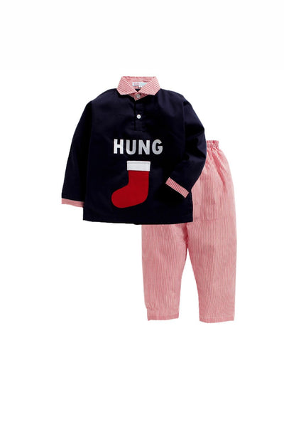 Hung christmas sleepwear! sleepwear for boys and girls, kids sleepwear, designer kids sleepwear, cute sleepwear for boys and girls